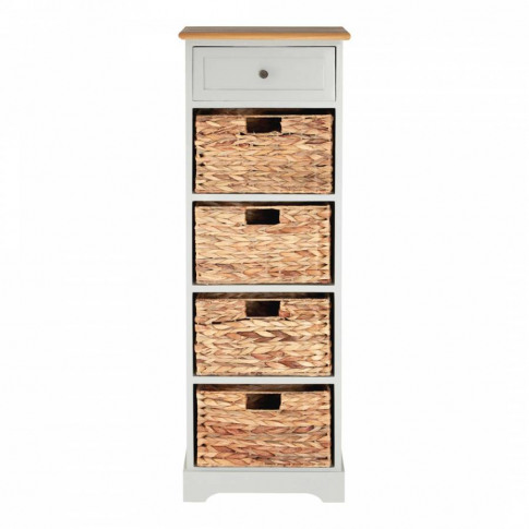 Vermont One Wood Four Basket Drawers Cabinet