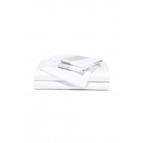 Bicolore Queen Size Duvet Set - White/Cliff Grey