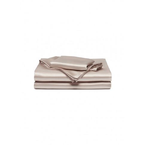 Silk Queen Size Duvet Set - Nude