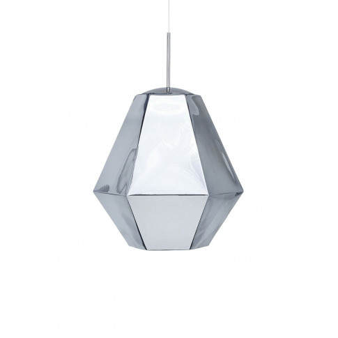 Cut tall pendant light - Chrome