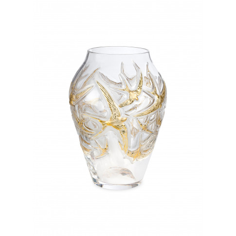 Hirondelles Limited Edition Grand Vase - Clear/Gold
