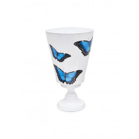 X John Derian Butterfly Vase - Blue