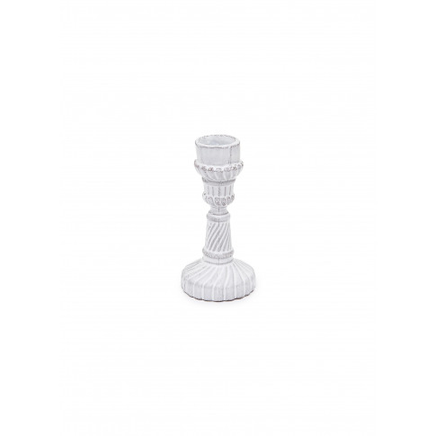Peggy Short Candlestick - White