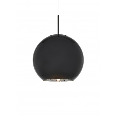 Copper Large Round Pendant Light - Black
