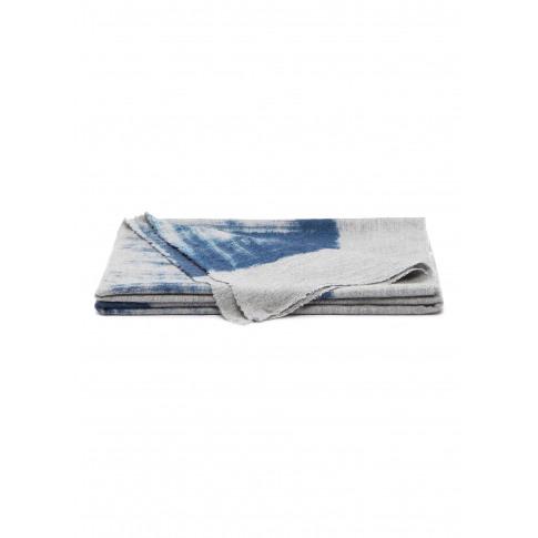 Grafite Plaid Throw - Pale Blue On Grey
