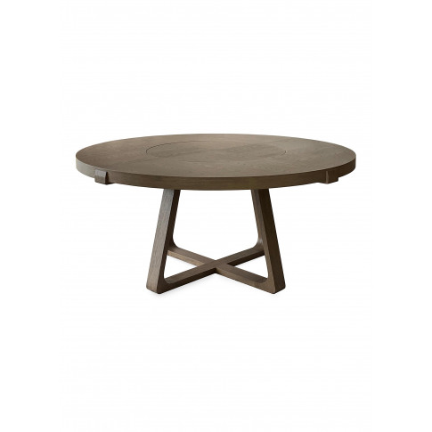 Lazy Susan Oak Round Dining Table