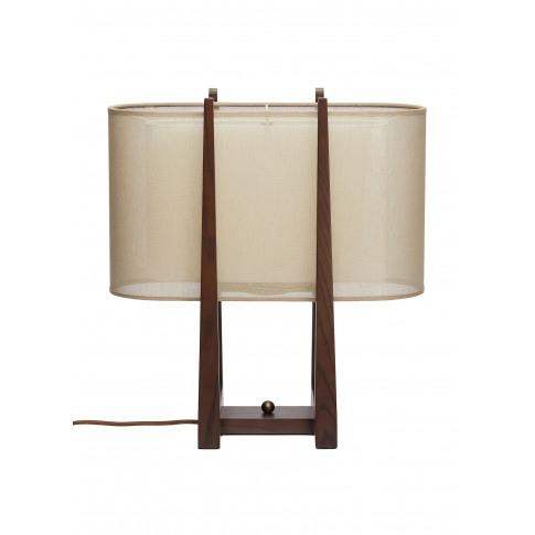 Lantern Large Oval Table Lamp - Dark Brown