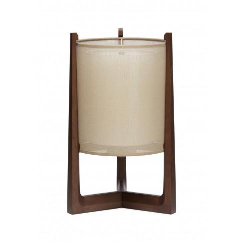 Lantern Round Table Lamp - Dark Brown