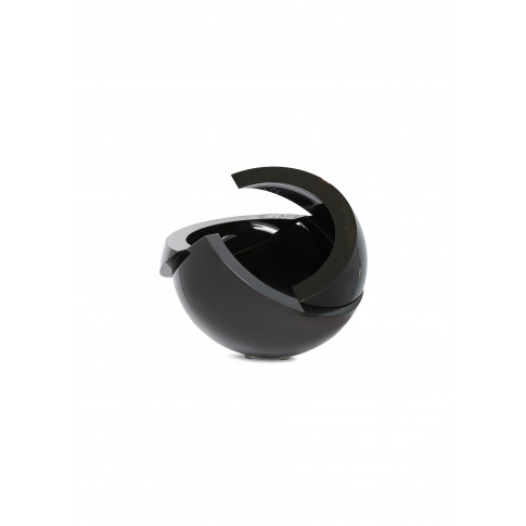 Armadillo Sphere Small Vase - Black/Clear