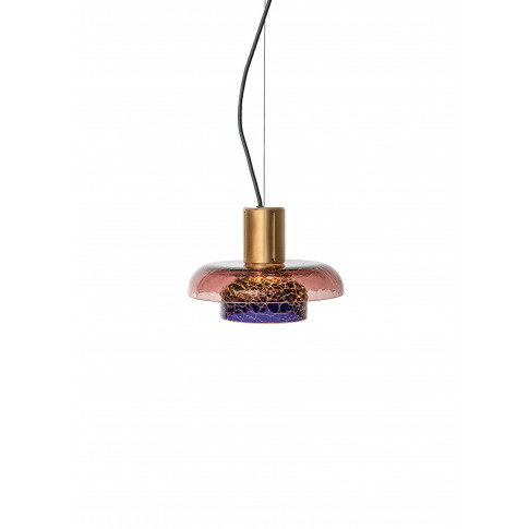 Greenway Crackle Pendant Lamp - Mauve/Blue
