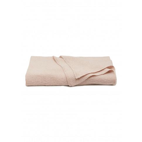 Lia Cashmere Throw - Blush