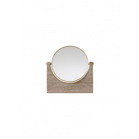 Pepe Marble Mirror - Brass/Brown