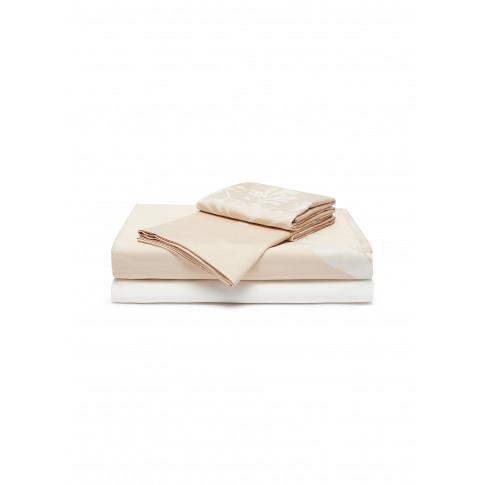 Medallion Heart Queen Size Duvet Set - Powder Pink/Milk