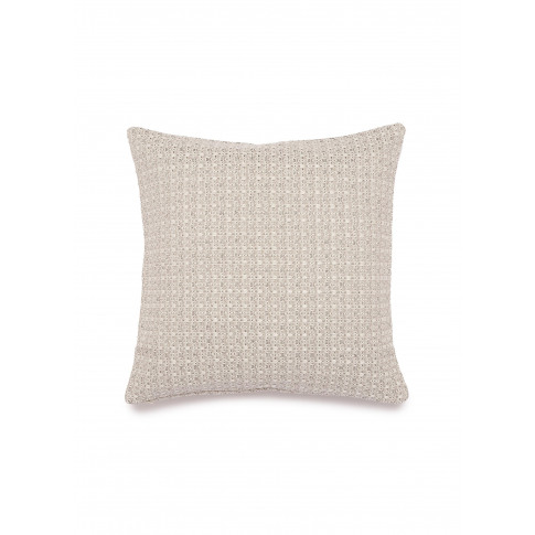 Luminescent Tweed Cushion - Silver