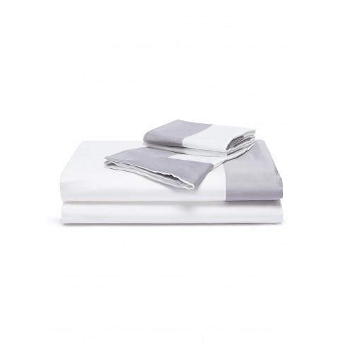 Bold King Size Duvet Set - Slate Grey