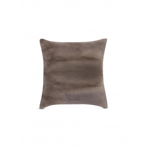 Mink Fur Cushion - Slate Grey