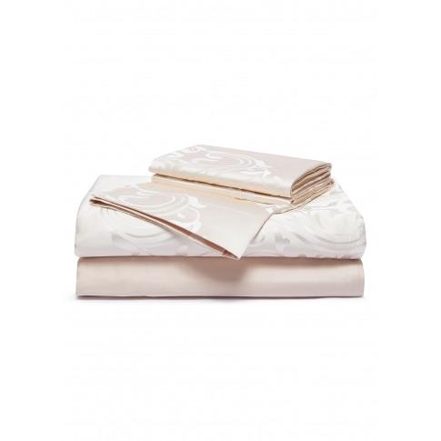 Luxury Medallion King Size Duvet Set - Powder Pink