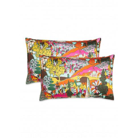 Pillowcase Set - Paesaggio Arancio