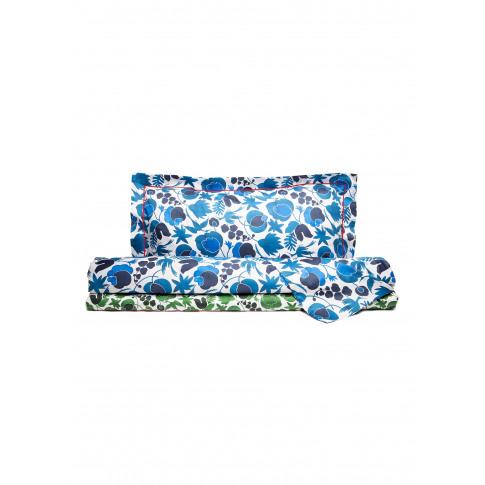 Queen Size Duvet Set - Wildbird Blu/Wildbird Verde S...