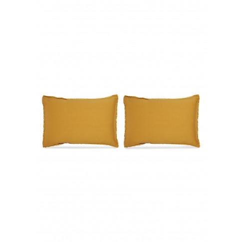 Saten Pillowcase Set - Curcuma