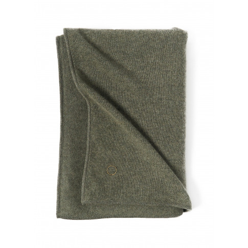 'Daya' Cashmere Bed Throw - Moss
