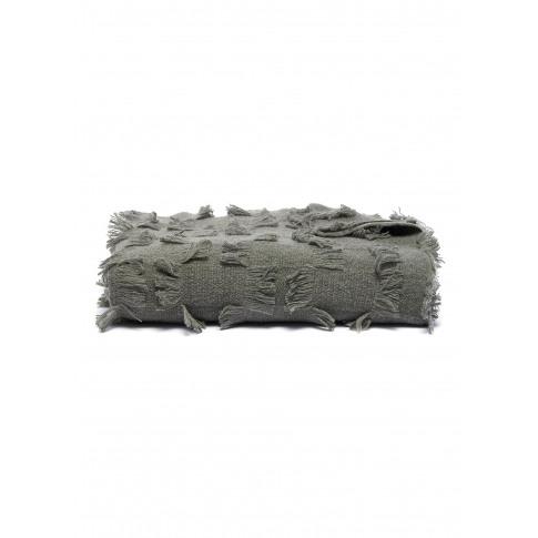 Seren Cashmere Bed Throw - Moss