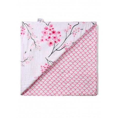 Organic Reversible Snug Blanket - Cherry Blossom