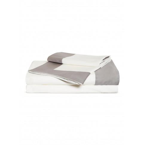 Bold King Size Duvet Set - Slate Grey/Milk