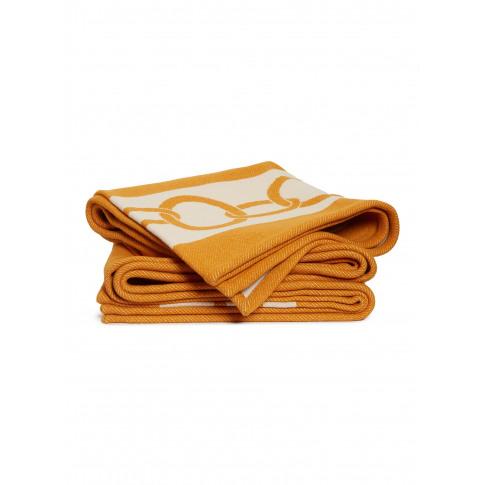 Chains Throw - Dark Orange/Beige