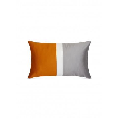 Bold Boudoir Pillowcase - Slate Grey/Orange