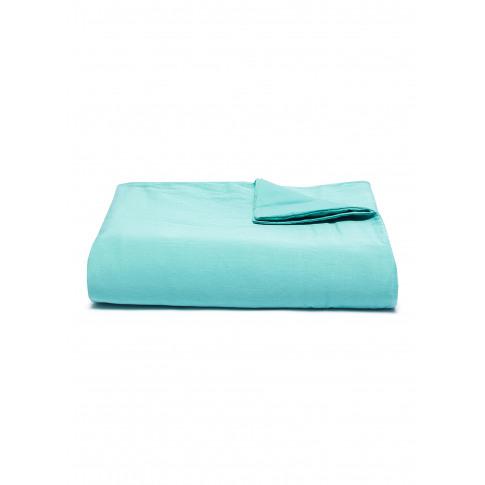 Saten King Size Duvet Cover - Turquoise