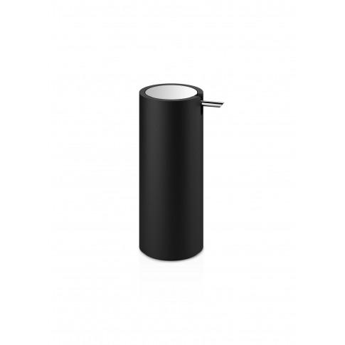 Stone Ssp Soap Dispenser - Black Matt/Chrome