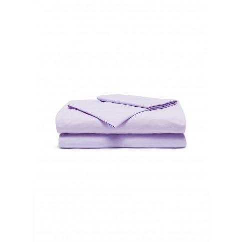 Queen Size Organic Percale Duvet Set - Lavender