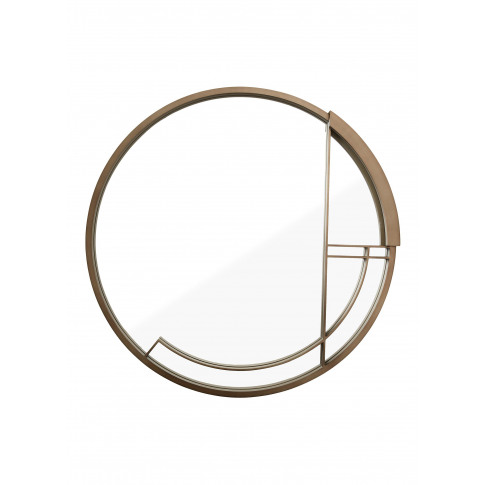 Mid Century Rhythm Round Large Mirror