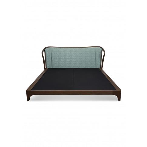 Mid Century Rhythm Oak Bed Frame - Sage Green