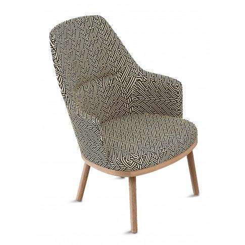Sartor Oak Frame Lounge Chair - Pampas Carbon