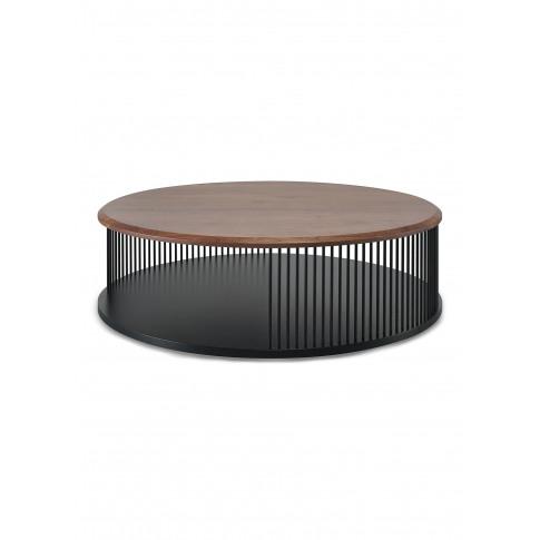 Memória Walnut Wood Coffee Table