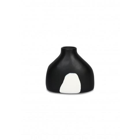 Bottle Resin Vase - White Dot On Black
