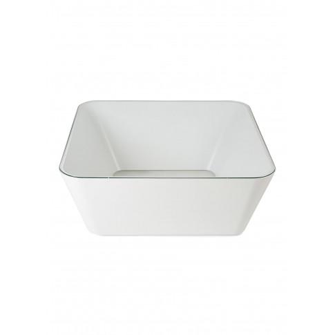 Zero-In Coffee Table - White/Transparent Glass