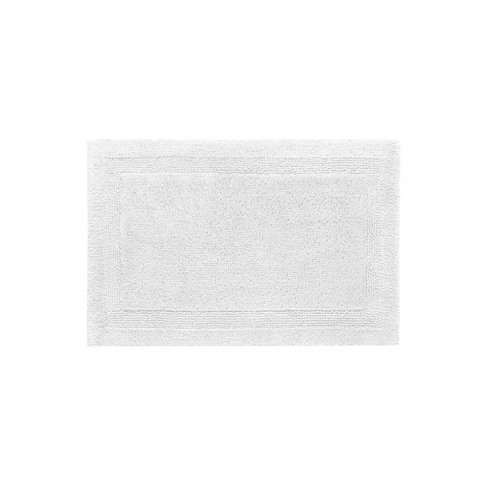 Super Pile Large Reversible Bath Mat - White