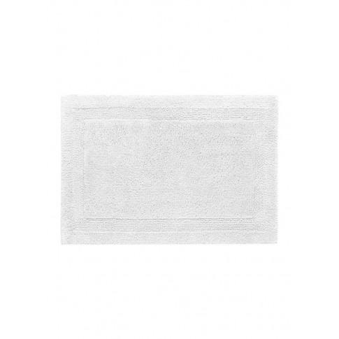 Super Pile Small Reversible Bath Mat - White
