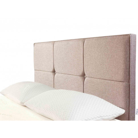 Tempur® Ardennes Buttoned Headboard (Double) - Double 135cm (4'6'') - Biscuit