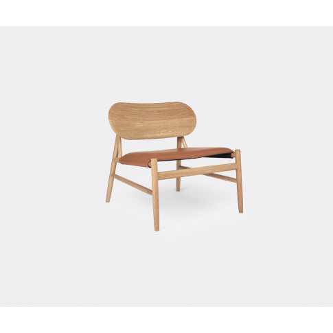 Brdr. Krüger Seating - 'Ferdinand' Lounge Chair In Cognac Waxed Oiled Oak