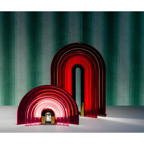 Preciosa Handmade - 'Chromo' table lamp red, small E...
