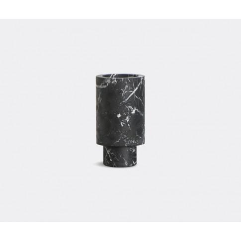 Mmairo Vases - 'Inside Out' Vase, Black In Black Nero Marquinia