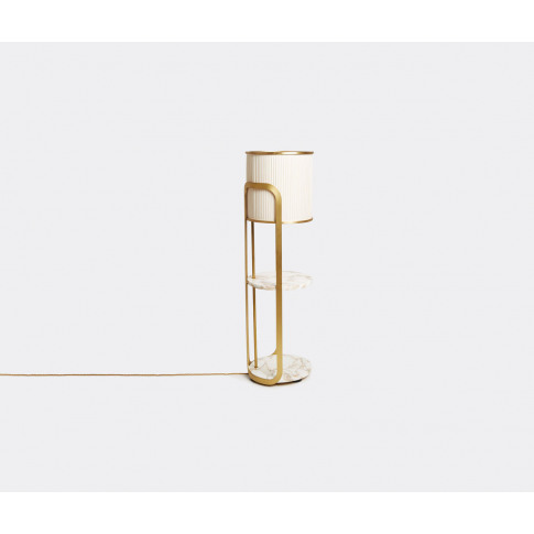 Marta Sala Éditions Lighting - Lt1 Achille' Table Lamp In Polish Brass Brass, Marble