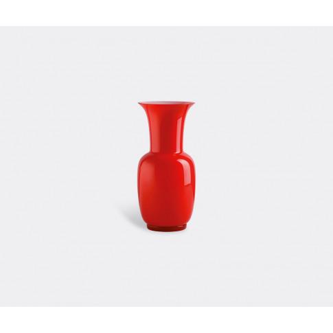 Venini Vases - 'Opalino' Vase, L, Red In Red Glass