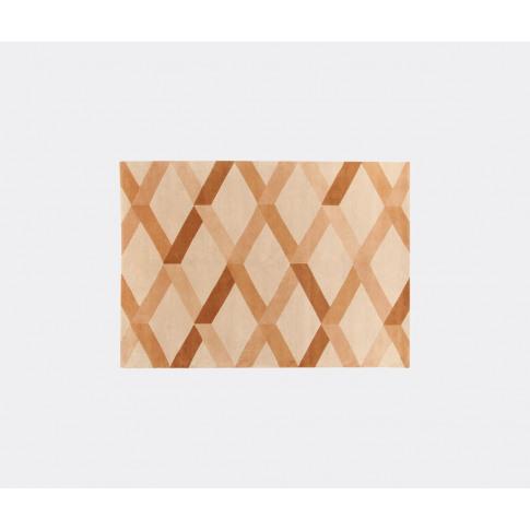 Amini Carpets Rugs - 'Incroci' Rug, Brown In Beige Wool