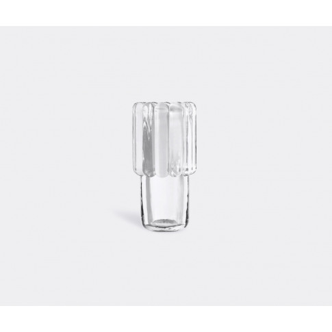 Tom Dixon Vases - 'Press' Vase, Medium In Clear Glass