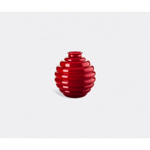 Venini Vases - 'Deco' Vase, S, Red In Red Glass
